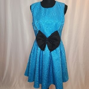 Madam Rage Blue Bow mini Dress